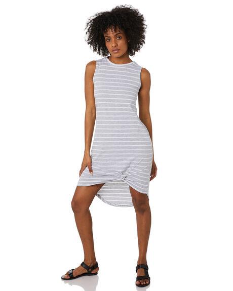 GREY STRIPE WOMENS CLOTHING SILENT THEORY DRESSES - 6023003GREY