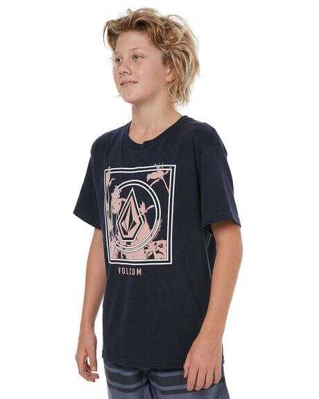 NAVY KIDS BOYS VOLCOM TEES - C35417T2NVY