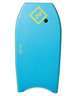 SKY BLUE YELLOW BOARDSPORTS SURF FOAMIE BODYBOARDS - FFLOW40LBSBLFY