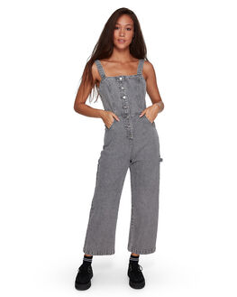 GREY STRIPE WOMENS CLOTHING RVCA PLAYSUITS + OVERALLS - RV-R207751-GST