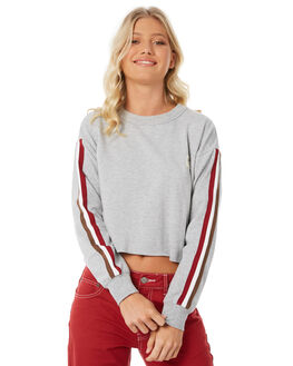 GREY MARLE OUTLET WOMENS RVCA JUMPERS - R281153GYM