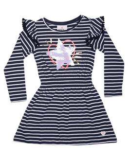 NAVY WHITE STRIPE KIDS TODDLER GIRLS EVES SISTER DRESSES - 8090130NVSTR