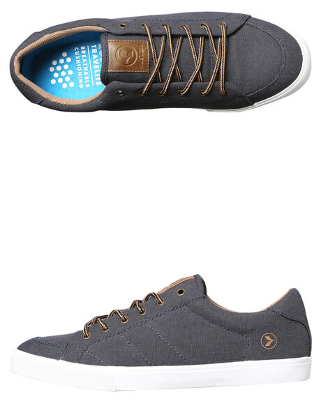 NAVY MICRO MENS FOOTWEAR KUSTOM SNEAKERS - 4981117GNVYM