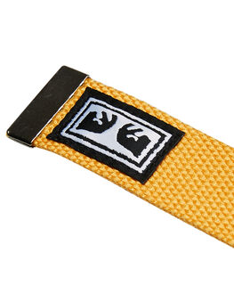 ENERGY YELLOW MENS ACCESSORIES OBEY BELTS - 100050026EYL