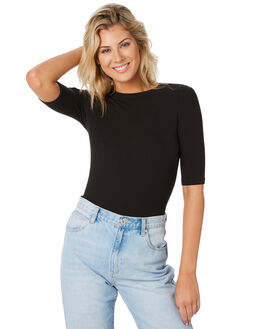 BLACK WOMENS CLOTHING SWELL TEES - S8194002BLACK
