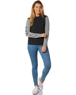 ANTHRACITE WOMENS CLOTHING ROXY JUMPERS - ERJFT03841KVJ0