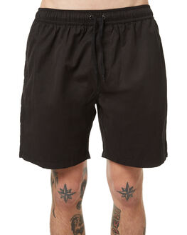 VINTAGE BLACK MENS CLOTHING NO NEWS BOARDSHORTS - N5174231VBLK