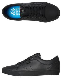 BLACK LEATHER MENS FOOTWEAR KUSTOM SNEAKERS - 4984116BLTH