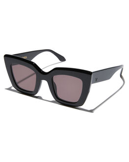 GLOSS BLACK WOMENS ACCESSORIES VALLEY SUNGLASSES - S0386GBLK