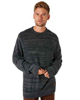 BLACK MENS CLOTHING BILLABONG KNITS + CARDIGANS - 9595851BLK