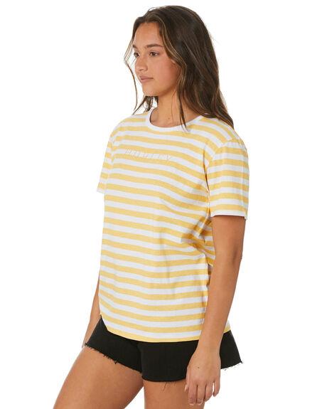 LIGHT SUNFLOWER WOMENS CLOTHING HURLEY TEES - HAGTSS21STHLSU