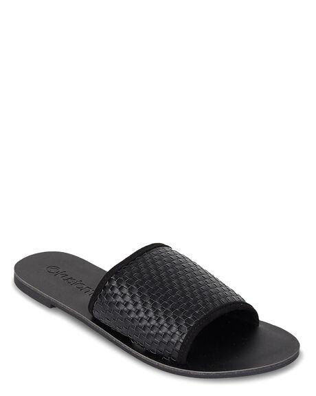 BLACK WOMENS FOOTWEAR KUSTOM SLIDES - KS-4692206-BLK