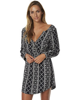 BLACK WOMENS CLOTHING BILLABONG DRESSES - 6576474BLK