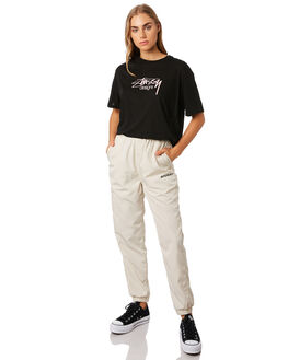 BLACK WOMENS CLOTHING STUSSY TEES - ST192004BLK