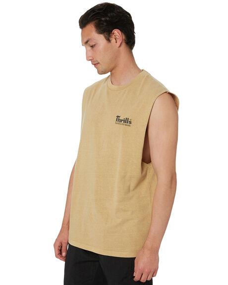 FADED GOLD MENS CLOTHING THRILLS SINGLETS - TS20-105KFGD