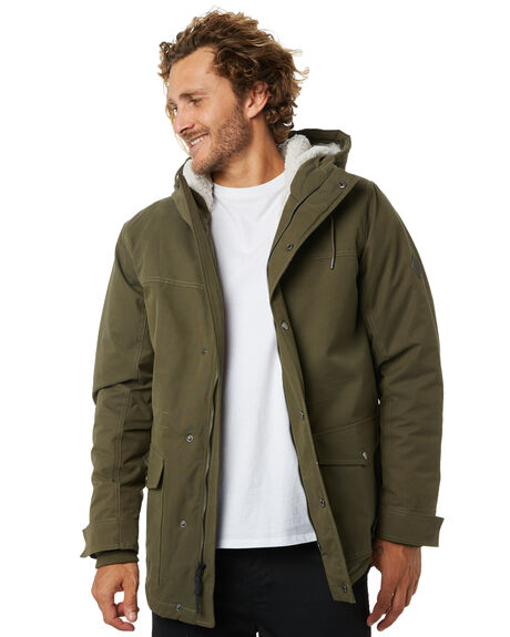 DARK OLIVE MENS CLOTHING RIP CURL JACKETS - CJKDQ19389