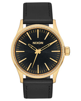 GOLD BLACK SUNRAY MENS ACCESSORIES NIXON WATCHES - A377-1604
