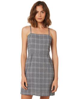 GREY CHECK OUTLET WOMENS THRILLS DRESSES - WSMU8-912GCHK
