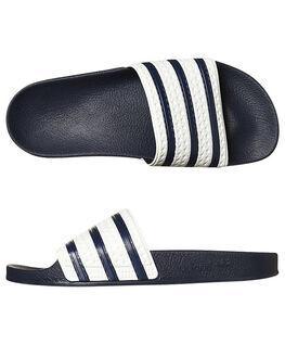 ADIBLUE WHITE MENS FOOTWEAR ADIDAS ORIGINALS SLIDES - G16220ADIBL