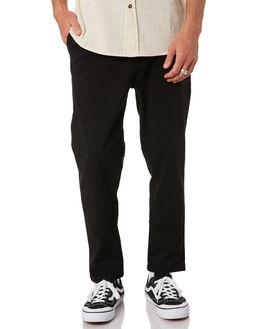 BLACK MENS CLOTHING RUSTY PANTS - PAM1046BLK