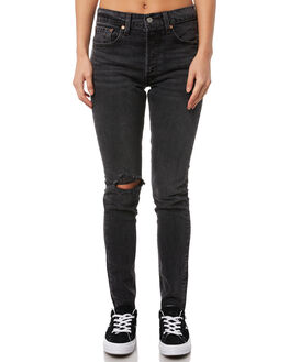 WELL WORN  BLACK WOMENS CLOTHING LEVI'S JEANS - 29502-0029WWB