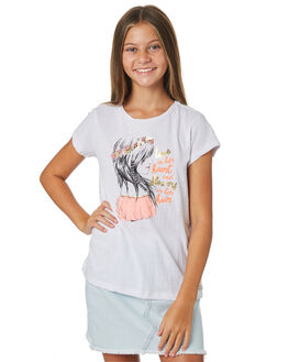WHITE KIDS GIRLS EVES SISTER TOPS - 9920013WHT