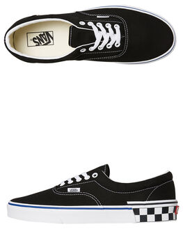 CHECK BLACK MENS FOOTWEAR VANS SKATE SHOES - SSVNA38FRVOQCBLKM