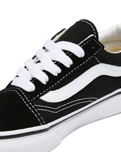 BLACK WHITE KIDS BOYS VANS SNEAKERS - VN-0W9T6BTBKWH