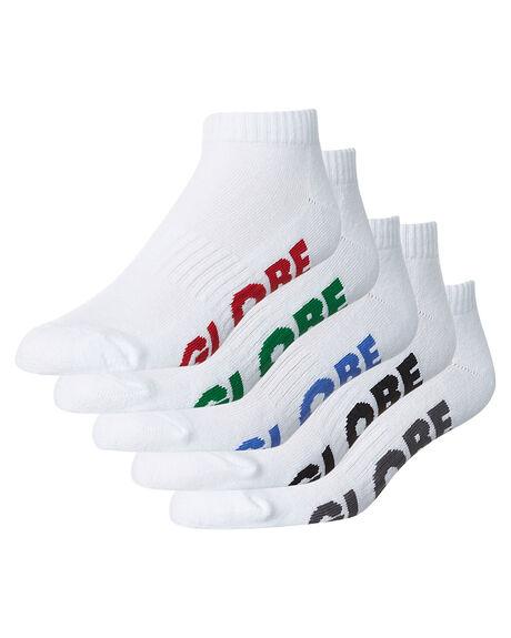 WHITE MENS CLOTHING GLOBE SOCKS + UNDERWEAR - GB71029003WHT