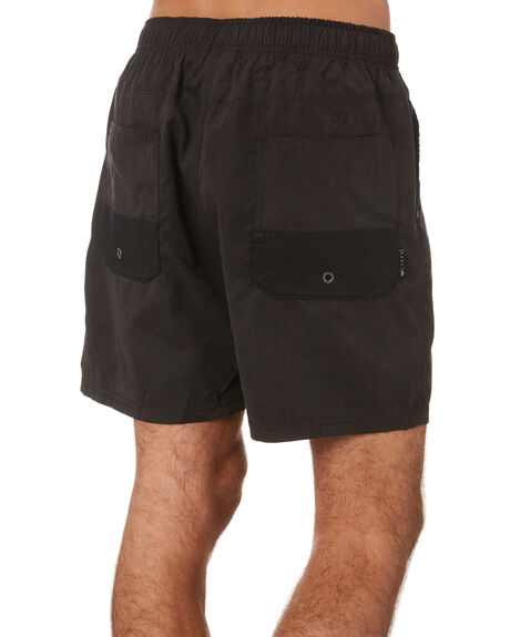 BLACK MENS CLOTHING RUSTY SHORTS - WKM450BLK