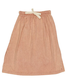 STONEWASH PINK KIDS GIRLS CHILDREN OF THE TRIBE SHORTS + SKIRTS - GRSK0372PNK