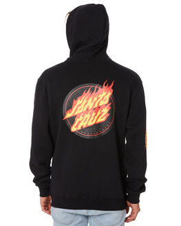 BLACK MENS CLOTHING SANTA CRUZ JUMPERS - SC-MFA9158BLK