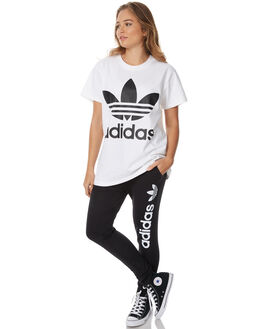 BLACK WOMENS CLOTHING ADIDAS ORIGINALS PANTS - AJ7666BLK