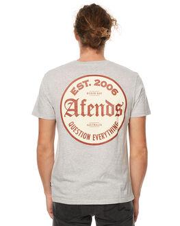 GREY MARLE MENS CLOTHING AFENDS TEES - 01-01-255GRYM
