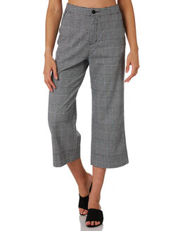 GREY PLAID WOMENS CLOTHING COOLS CLUB PANTS - 707-CW2GREY