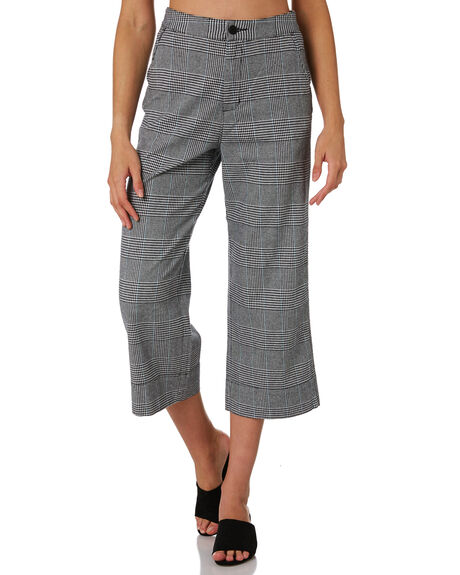 GREY PLAID WOMENS CLOTHING COOLS CLUB PANTS - 707-CW2GREY
