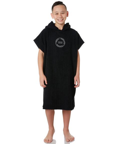 BLACK KIDS BOYS SWELL TOWELS - S32021801BLACK
