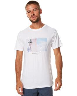 WHITE MENS CLOTHING RHYTHM TEES - APR17-TS07WHT