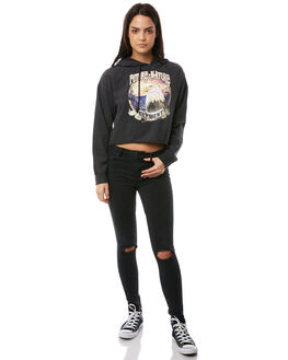 WASHED BLACK WOMENS CLOTHING ELEMENT JUMPERS - 286311AW33