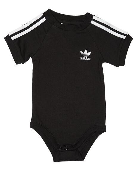 BLACK WHITE KIDS BABY ADIDAS CLOTHING - DV2819BLKWH
