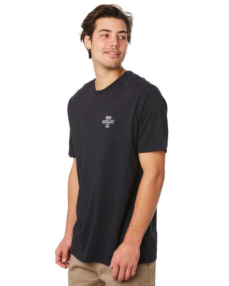 BLACK MENS CLOTHING HURLEY TEES - AR5457010