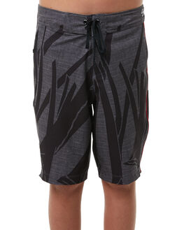BLACK WOLF GREY KIDS BOYS HURLEY BOARDSHORTS - AB923875010