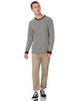 WHITE BLACK MENS CLOTHING STACEY TEES - STTEEMINILSWHIB
