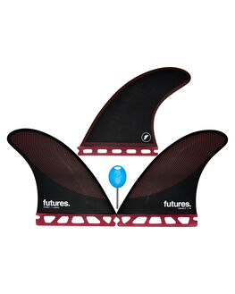 BURGUNDY BLACK BOARDSPORTS SURF FUTURE FINS FINS - 1178-161-00BURBK