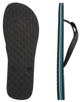 BLUE AQUA STRIPE MENS FOOTWEAR REEF THONGS - 220BAS