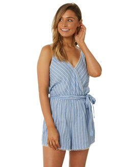 CHAMBRAY WOMENS CLOTHING SEAFOLLY PLAYSUITS + OVERALLS - 53427-PSCHMBR