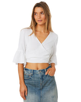 WHITE OUTLET WOMENS MLM LABEL FASHION TOPS - MLM404AWHI