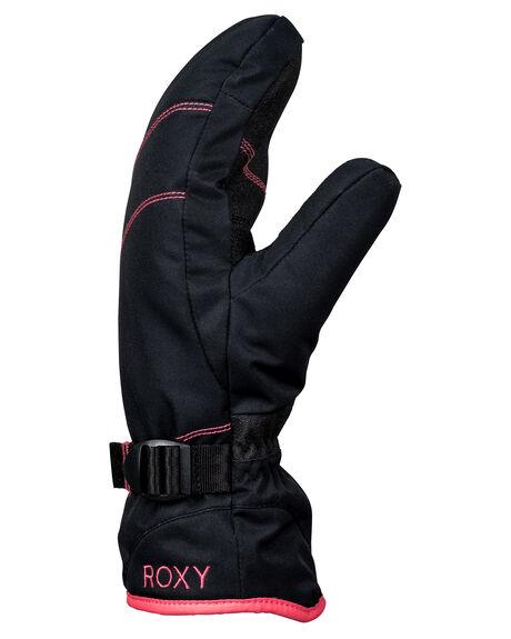 TRUE BLACK BOARDSPORTS SNOW ROXY GLOVES - ERJHN03104KVJ0