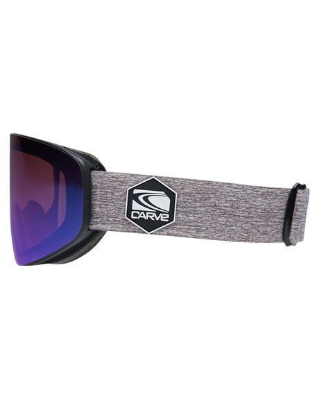 MATT BLACK ROSE MILL BOARDSPORTS SNOW CARVE GOGGLES - 6074MBLKR