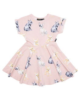 DUSTY PINK KIDS TODDLER GIRLS ROCK YOUR BABY DRESSES - TGD18131-CLDSTPK